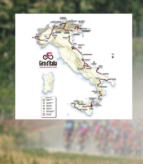 Dit is het etappeschema van de Giro 2020