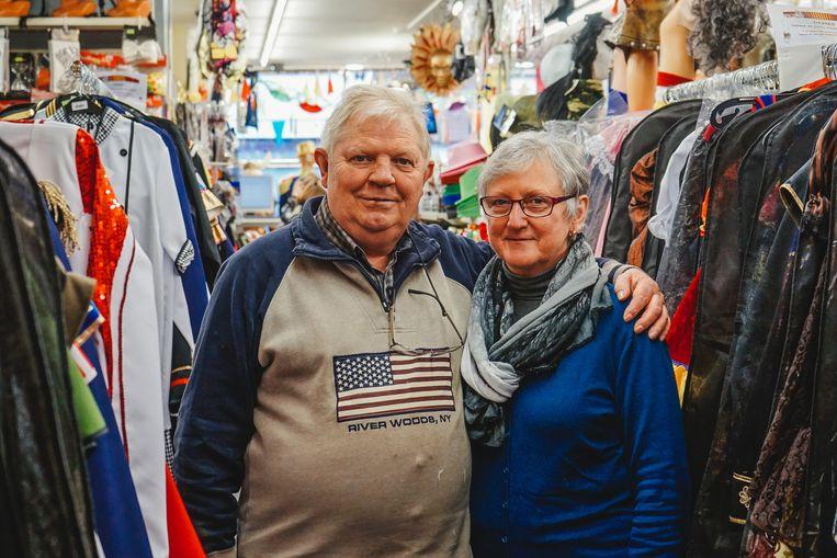 Danny en Mia van carnavalswinkel Liebaut.