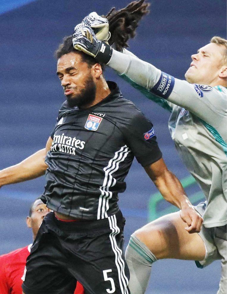 Geert De Vlieger over Jason Denayer (links op de foto): 'Hij moet de vervanger worden van Kompany. Hij is het verst geraakt in de Champions League en heeft daar goede dingen laten zien.' Beeld