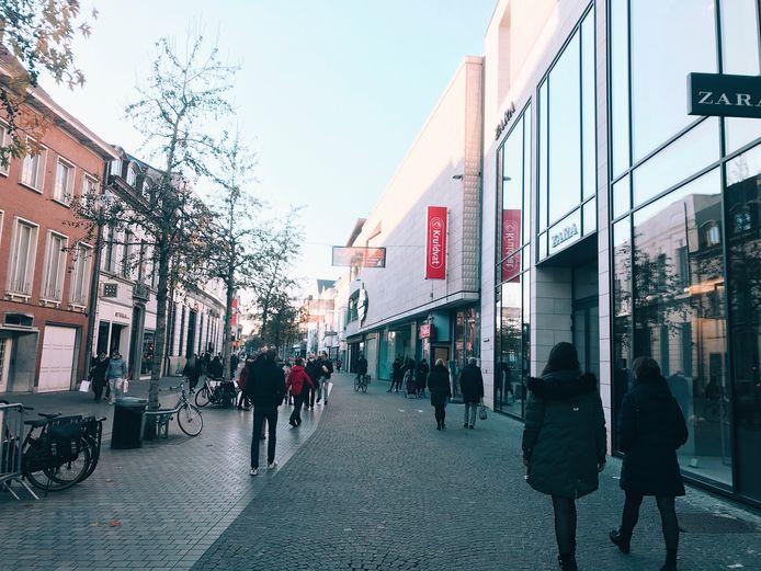 De winkelstraten van Aalst op zaterdagnamiddag 28 november.