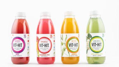 Water + fruitsap + thee + vitaminen