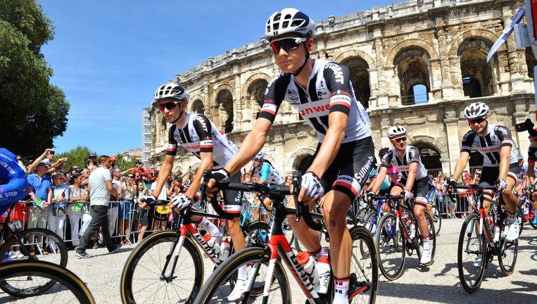 Wilco Kelderman in Nîmes bij de start van de Vuelta. Beeld Cor Vos