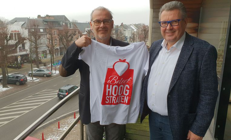 Patrick Meles samen met burgemeester Marc Van Aperen van Hoogstraten Leeft.