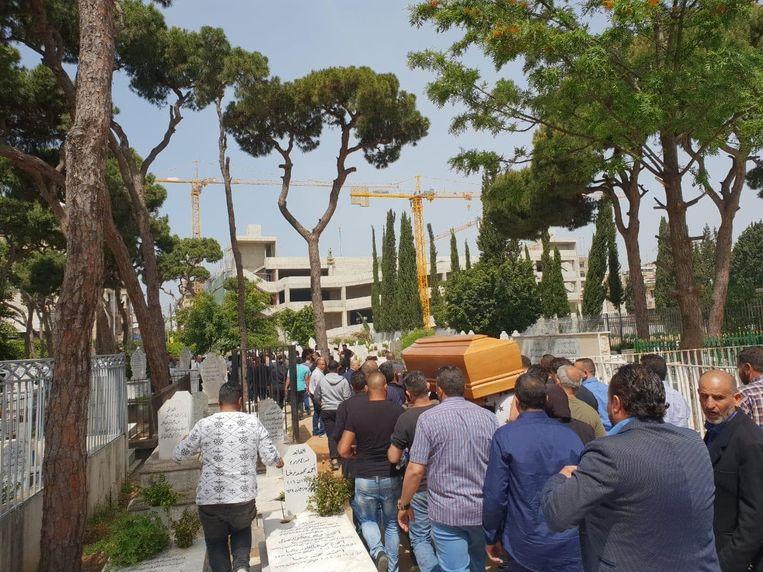 Beelden van de begrafenis in Beiroet.