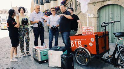 Stad ontvangt boze fietskoeriers