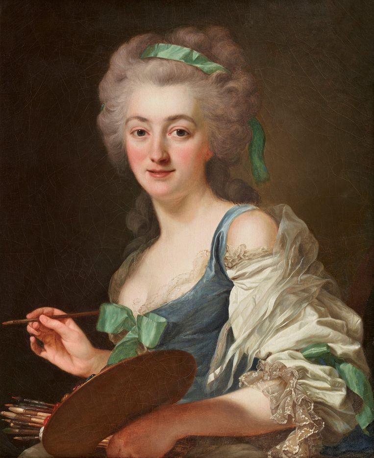 Alexander Roslin: Anne Vallayer-Coster, 1783, olieverf op doek; 73 x 61 cm. Beeld Collectie Galerie Eric Coatalem, Parijs