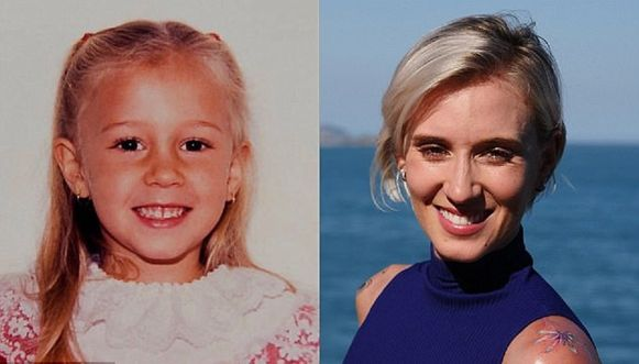 Dawn Watson als kind en volwassen vrouw.