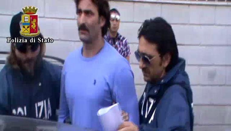 Francesco Campana wordt gearresteerd Beeld epa