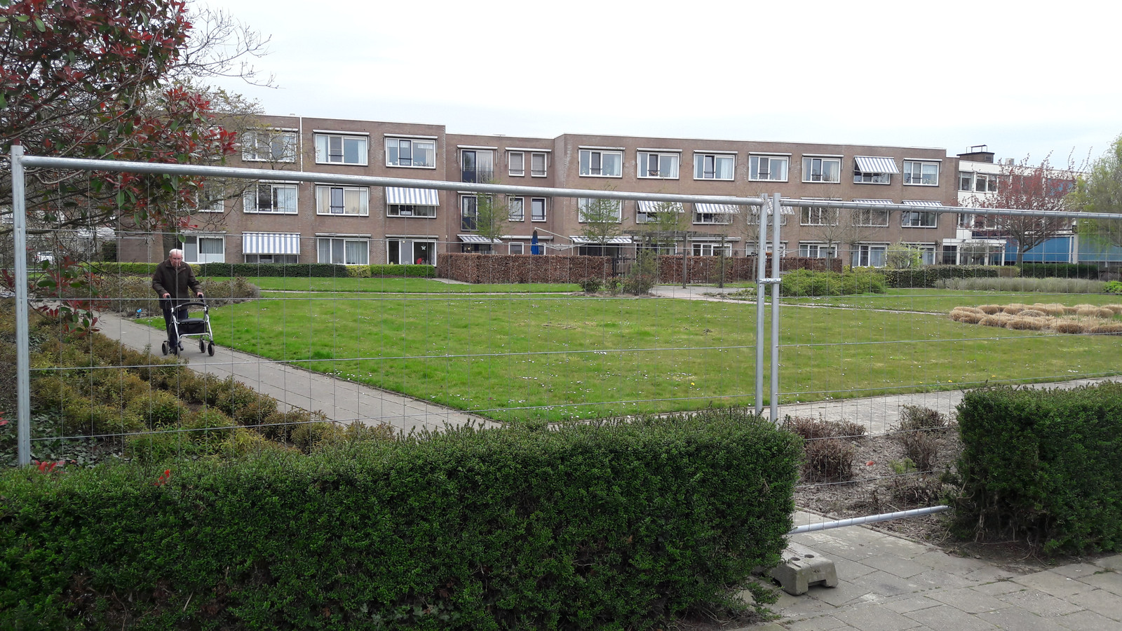 Hekken sluiten tuin verzorgingshuis Vremdieke in Hoek af.