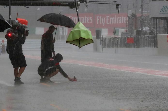 In 2017 werd de GP van Japan ook geteisterd door zware regenval.
