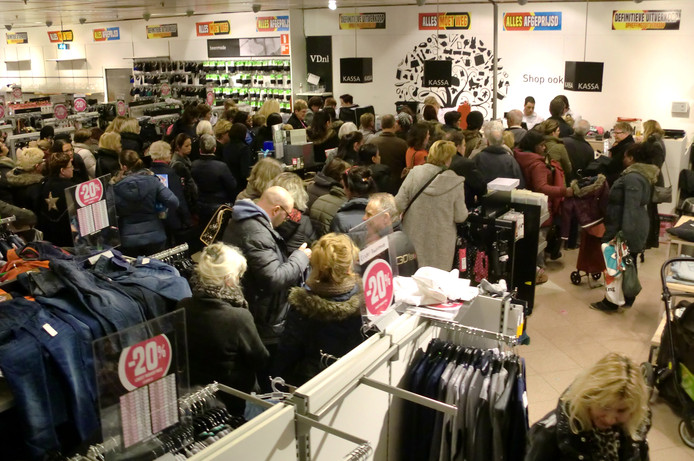 Om drie uur in de middag was het nog altijd druk in de Roosendaalse vestigingen.