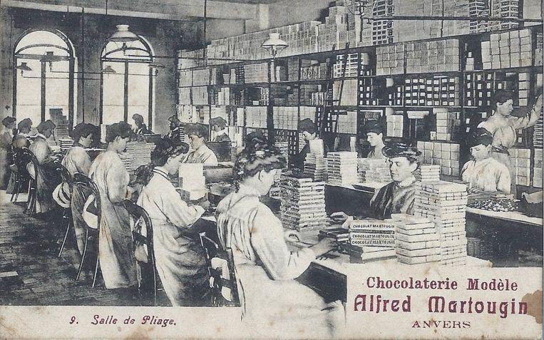De Martougin fabriek was de tweede grootste chocoladefabriek van de stad