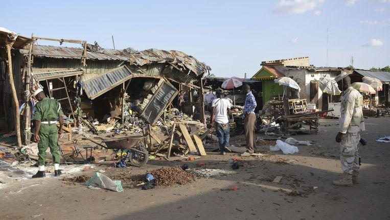 Afgelopen maandag had een zelfmoordaanslag in Maiduguri al aan zeker 32 mensen het leven gekost. Beeld ap