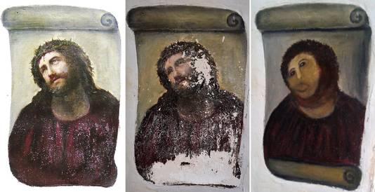 """""""Ecce Homo"""" (Borja), la restauration ratée la plus célèbre d'Espagne"""