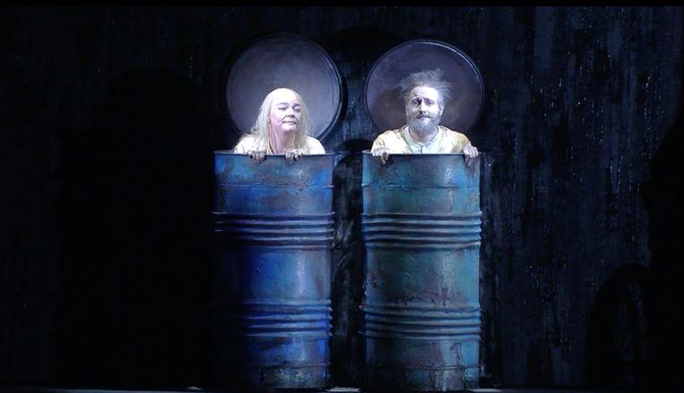 Filmstill uit 'Fin de Partie' in Teatro alla Scala in Milaan. Beeld