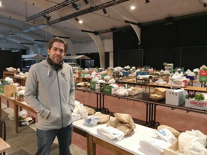 De markt van Deerlijk tijdens het eerste experiment