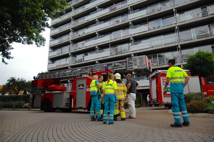 De brand woedde op de 12de verdieping.