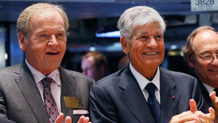 Omnicom-topman John Wren en Publicis-topman Maurice Levy.