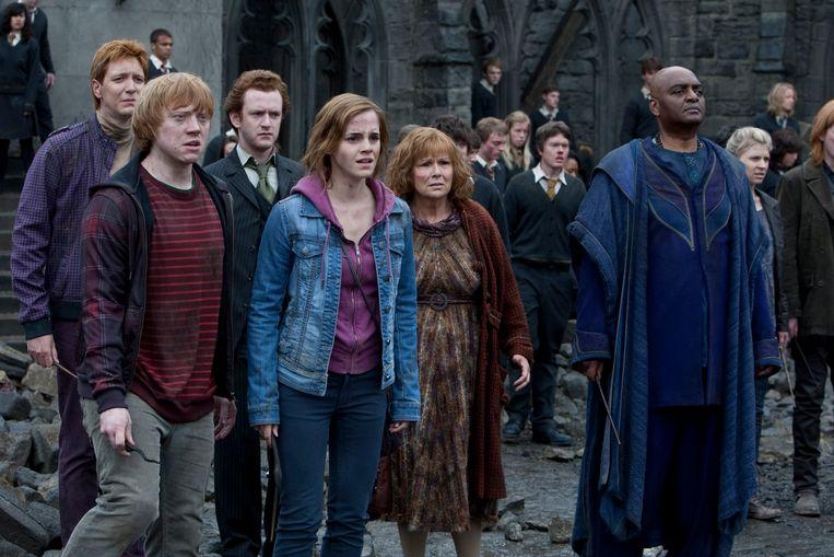 Chris Rankin, op de foto te zien tusen Rupert Grint en Emma Watson.