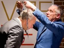 BN'ers en verkeersregelaars op de installatie van burgemeester Sjors Fröhlich in Vijfheerenlanden