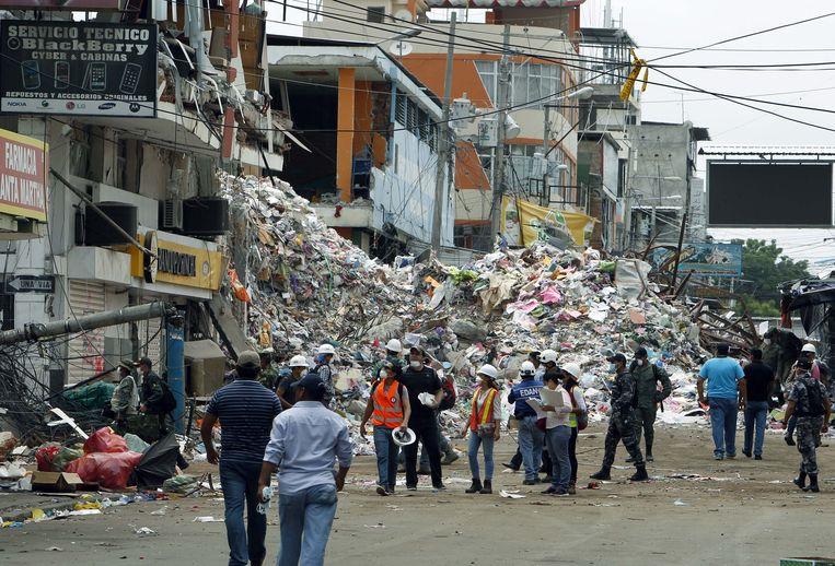 Aardbeving in Ecuador in 2016.