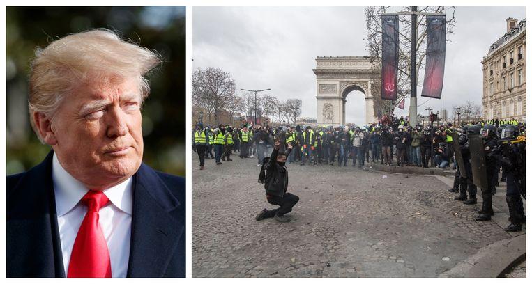 De Franse minister van Buitenlandse Zaken Jean-Yves Le Drian wil dat de de Amerikaanse president Trump zich niet bemoeit met het binnenlands beleid van Frankrijk.