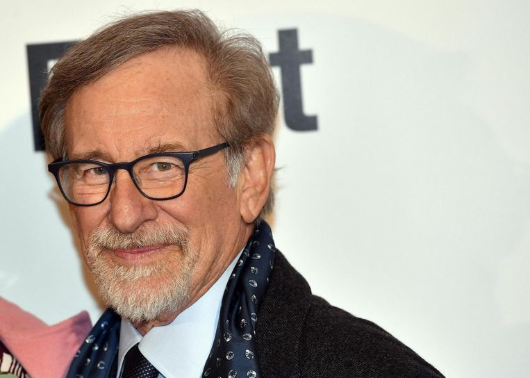 Steven Spielberg tijdens de première van The Post in Milaan, 15 januari 2018. Beeld EPA