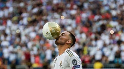 VIDEO. Hazard kust het logo en de Real Madrid-fans worden gek