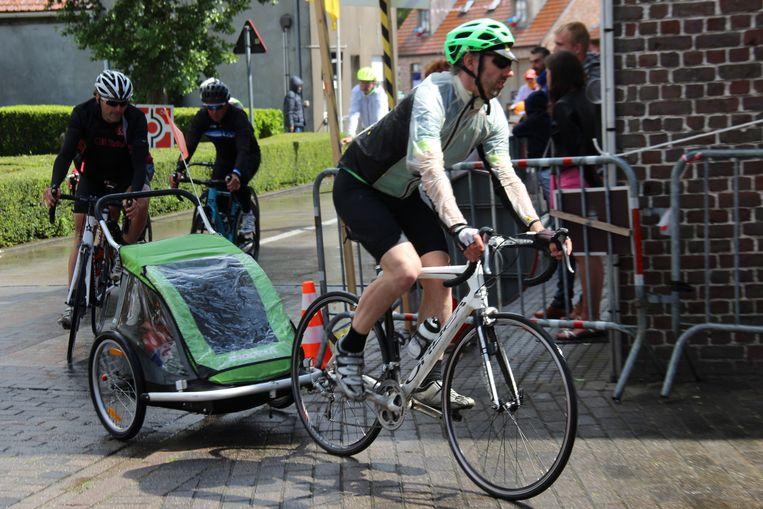 Elsegem Koerse kan ook met fietskar gereden worden.