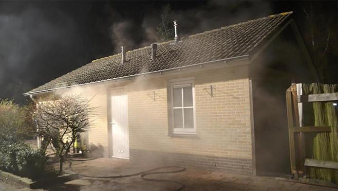 De vakantiewoning in Ermelo waarin Ton Kuijf werd vermoord werd in brand gestoken.