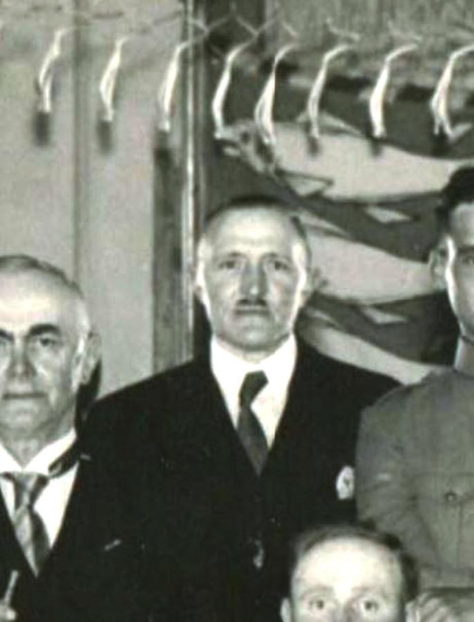 Burgemeester Jac van der Lely was in 1940 aanwezig bij de installatie van de heer Bax als burgemeester van Rijswijk.