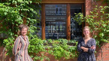 Buren vertellen met raamtekeningen over vrouw naar wie hun straat vernoemd werd