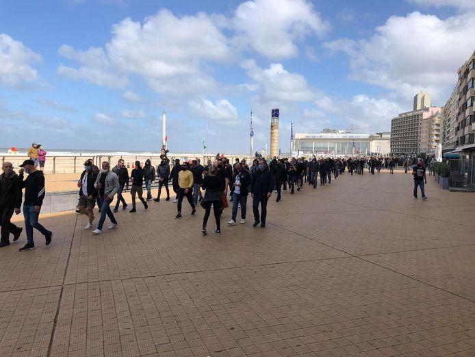 Er namen zo'n 300 mensen deel aan de mars tegen straffeloosheid in Oostende.