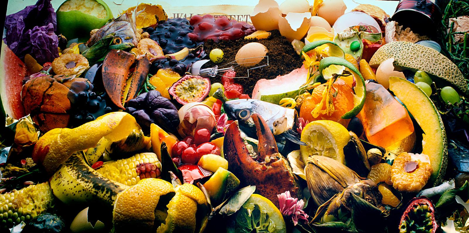Groente-, fruit- en tuinafval, een 'heerlijke' mix.