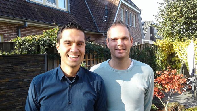 Erwin van de Griend (l) en Jordi van Mook, nu nog lid van De Parelvissers, die binnenkort opgaat in Hengelsportvereniging Heusden.