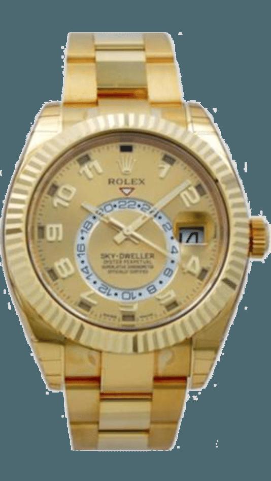 Het horloge dat aangeboden werd.