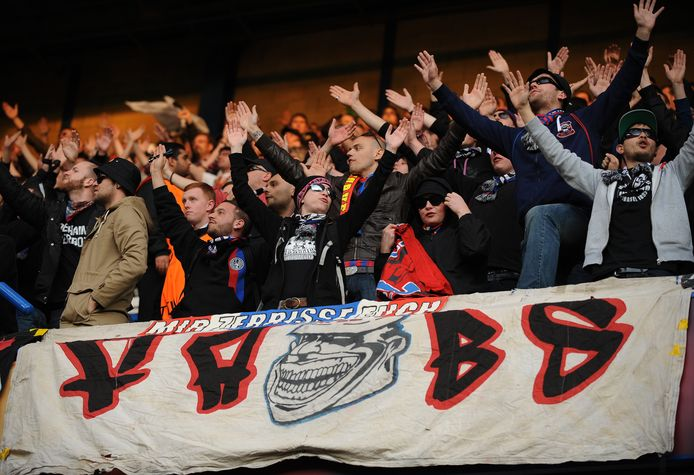 Supporters van FC Basel.