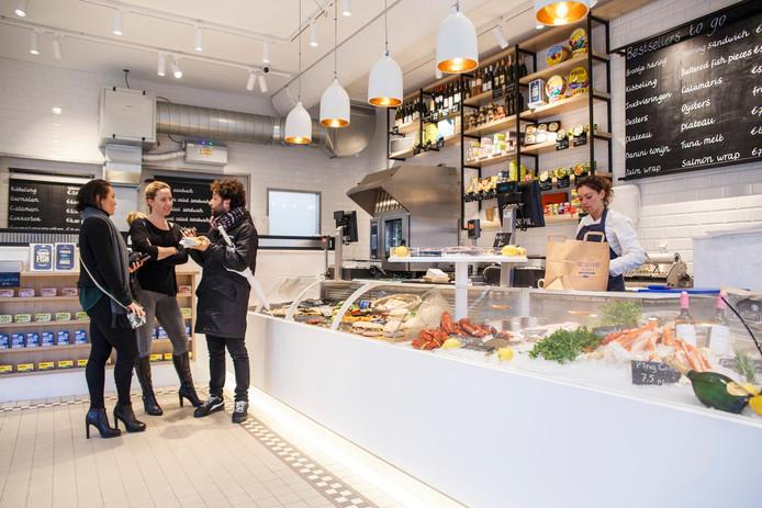 The Seafood shop aan de Leidsestraat in Amsterdam.