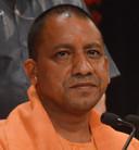 Yogi Adityanath, de nieuwe premier van de deelstaat Uttar Pradesh.