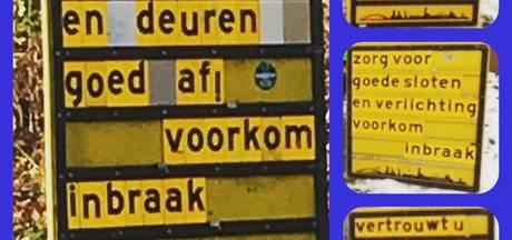 Anti-inbraakborden in Zwolle: gewaarschuwd mens telt voor twee