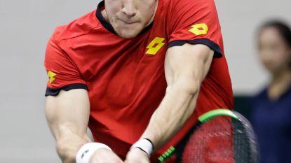 De Loore eervol onderuit tegen Isner in Davis Cup, 1-0 voor VS