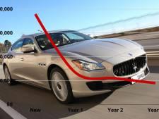 Deze auto's zijn na drie jaar bijna niets meer waard