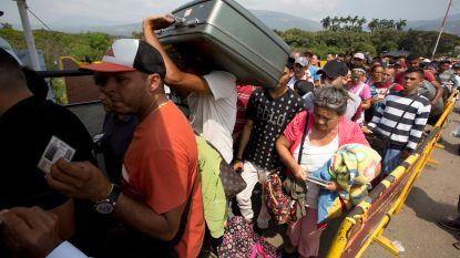 Al 1 miljoen Venezolanen gevlucht naar buurland Colombia