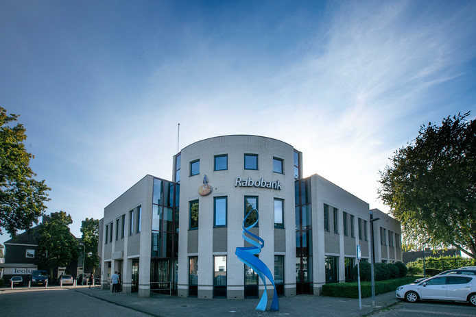 Het huidige pand van de Rabobank in Beek en Donk.