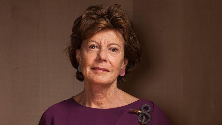 Oud-VVD-minister Neelie Kroes: 'Als er meer vrouwen bij zijn, heb je meer teamspelers.' Beeld Friso Keuris