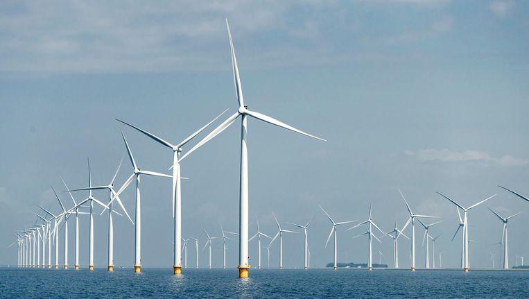 Windmoles op het Windpark Westermeerwind. Beeld anp