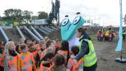 Leerlingen Sint-Martinus bezoeken werf Oosterweel en bouw van geluidsmuur