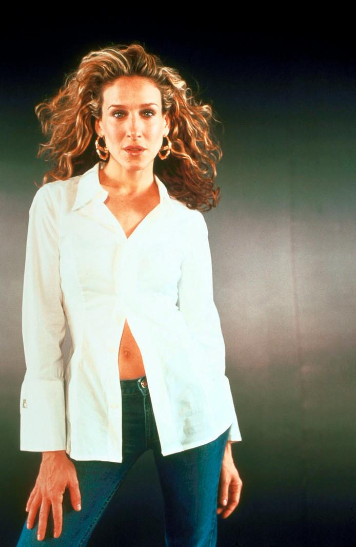 Sarah Jessica Parker in het begin van Sex and the City.