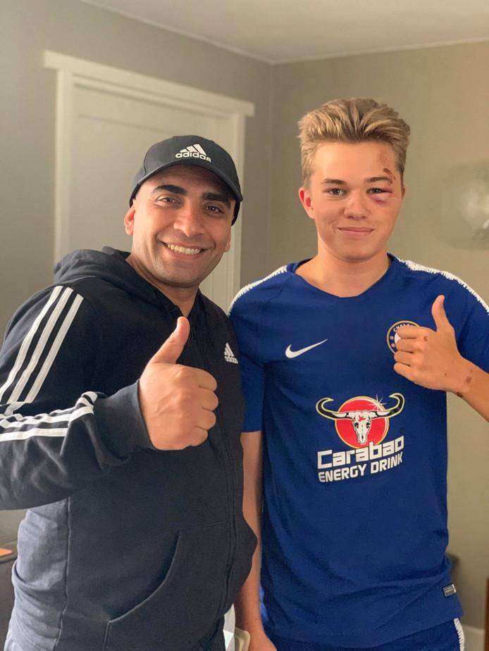 Izzet Karaevli verleende eerste hulp nadat de 15-jarige Noah gewond raakte.