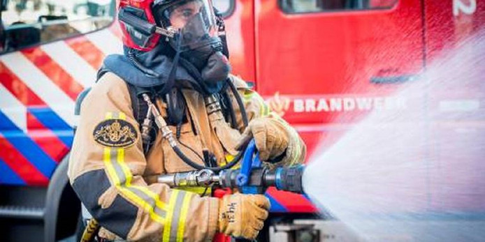 De brand verwoeste een heidegebied van 100 vierkante meter.